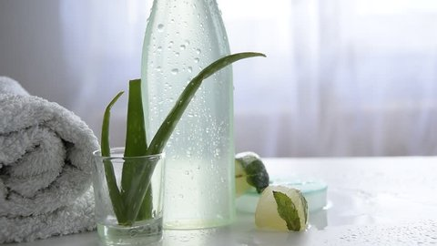 Natural body/face care product with aloe vera plant for sensitive skin