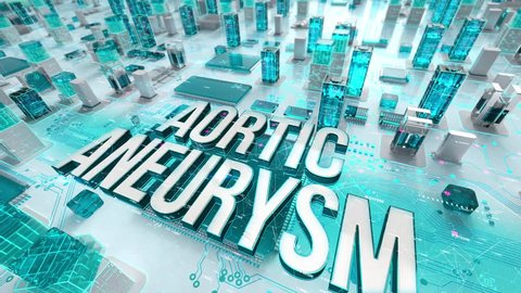 Aortic Aneurysm with medical digital technology concept