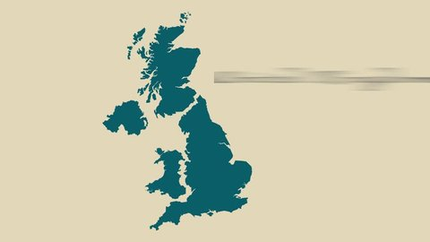 Map Of Uk Hd.Modern Map Of United Kingdom Illustration Animation