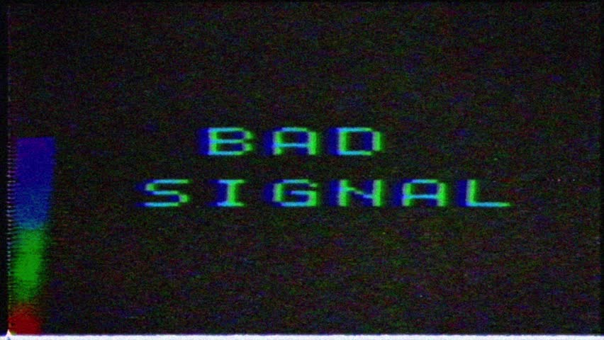 Bad signal on the analog signal in the TV. image with VCS signal interference.Unique Design Abstract Digital Animation Pixel Noise Glitch Error Video Damage | Shutterstock HD Video #1029244181
