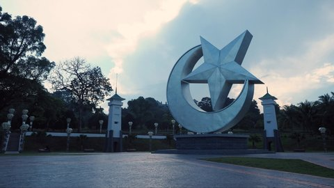 Johor Bahru, Johor / Malaysia - 10 20 2018: Laman Serene park timelapse in the morning
