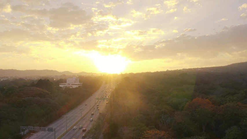 Sunset at monsieur romero. San Salvador, El Salvador.    Shutterstock HD Video #1029686621