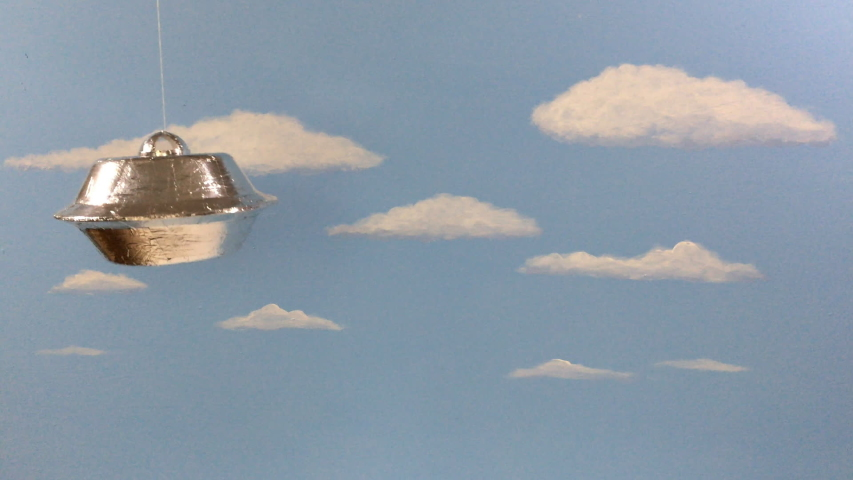 B-Movies: Silly Funny UFO Flyby | Shutterstock HD Video #1029729011