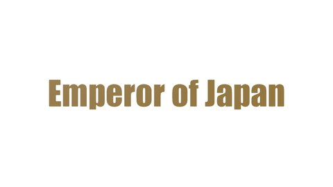 Emperor Of Japan Wordcloud Animated On White Background