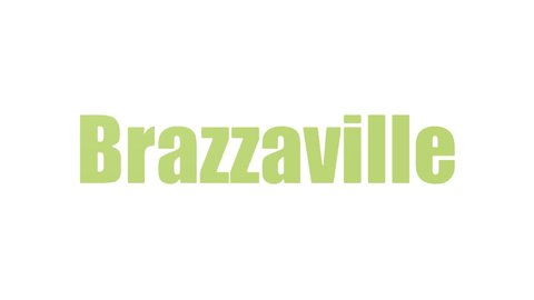 Brazzaville Word Cloud Animated Isolated