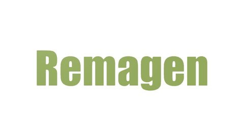 Remagen Tag Cloud Animated On White Background