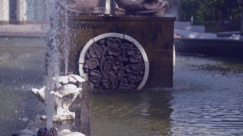 Fountain with floral ornaments hd video prores