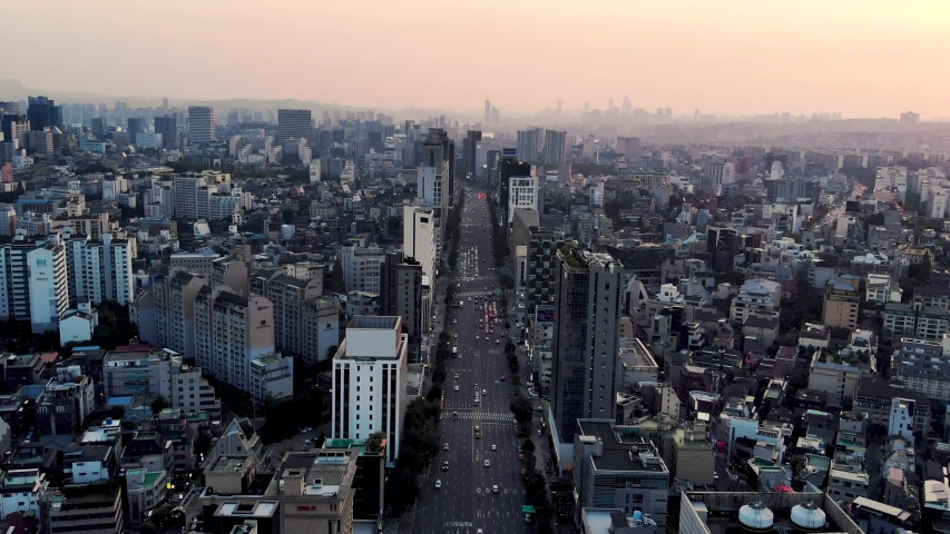 Drone Aerial footage of Seoul, South Korea | Shutterstock HD Video #1029905681