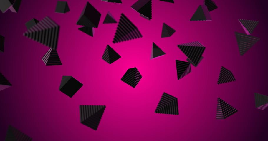 Pyramids falling slow motion 3d   Shutterstock HD Video #1029983291