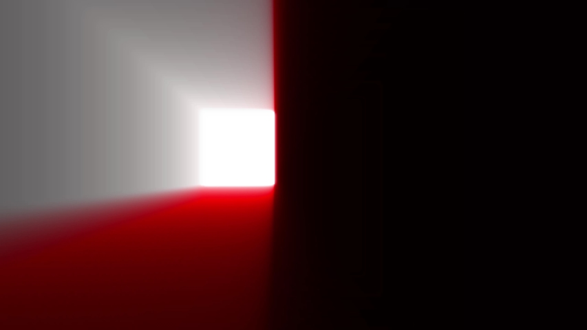 A glowing cube in motion with gradient volume light | Shutterstock HD Video #1030053881