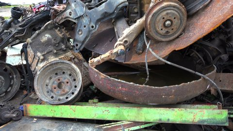 Scrap Metal Recovery Stock Video Footage - 4K and HD Video