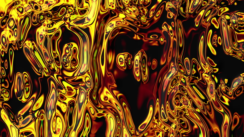 Liquid. Liquid metal. Mercury. Melting gold. Optical illusion. Hypnotism. Hypnosis. Abstraction, Psychedelic. Hallucinations. Multi-colored deformation. Background
