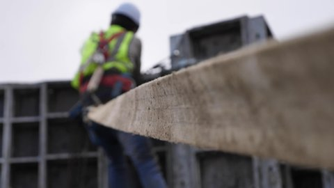 Lifeline safety equipment on construction site