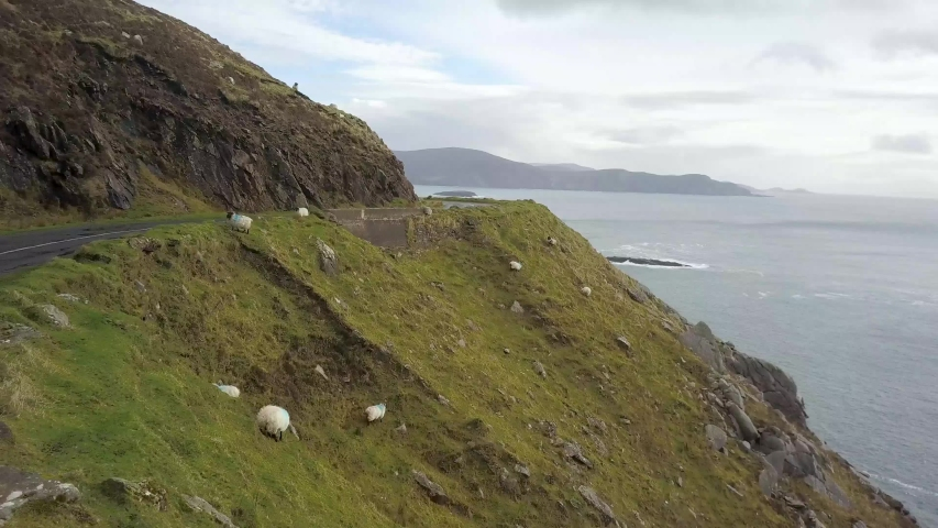 Achill Island, County Mayo, Ireland Drone Video | Shutterstock HD Video #1030378781