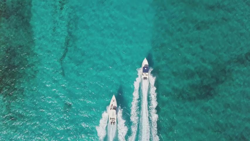 Drone bird view of exuma in the bahamas. summer | Shutterstock HD Video #1030721501
