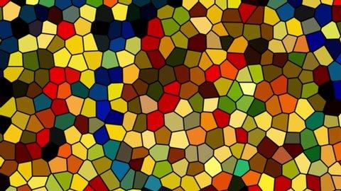 An initial mosaic letter N.