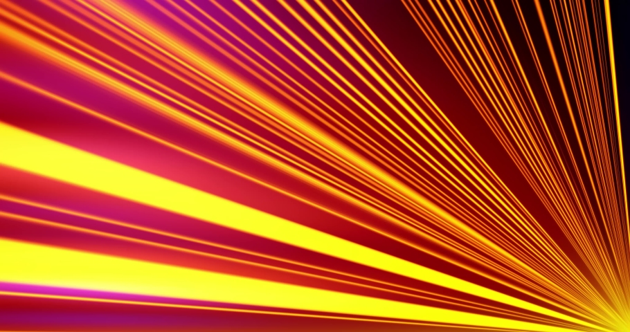 Flight in Laser Gun Energy motion lights streaks DJ VJ Lasers, background. Geometric background. Moving energy. Retro neon colors. Colorful backdrop. Neon lights. Orange and Blue.   Shutterstock HD Video #1030943411