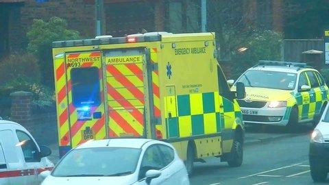 St Helens, Merseyside / United Kingdom (UK) - 12 16 2018: Merseyside North west ambulance