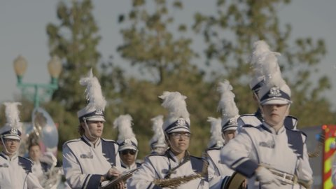Surprise, AZ / United States - 11 12 2018: Marching band in a parade.
