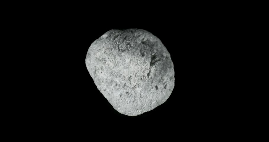 White Pumice Rock Turning on Black | Shutterstock HD Video #1031185691