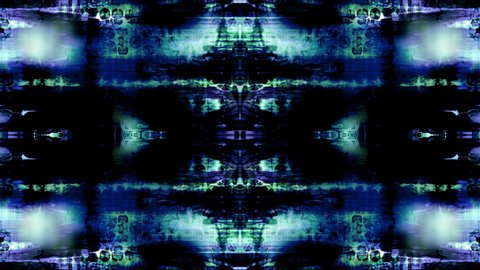 Video Background 2454: Abstract data forms pulse and flicker (Loop).
