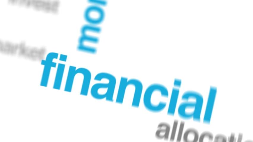 Investor portfolio animated word cloud. Kinetic typography. | Shutterstock HD Video #1032012671