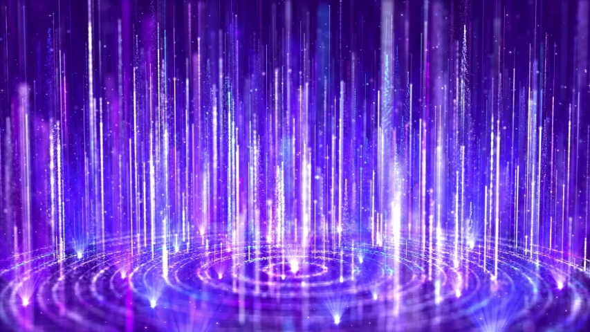Blue abstract dream particle streaks is a spectacular motion, blue-violet particle stripes are constantly rising, beautiful spiral particle light. Used for wedding stage backgrounds, party shows. | Shutterstock HD Video #1032862751