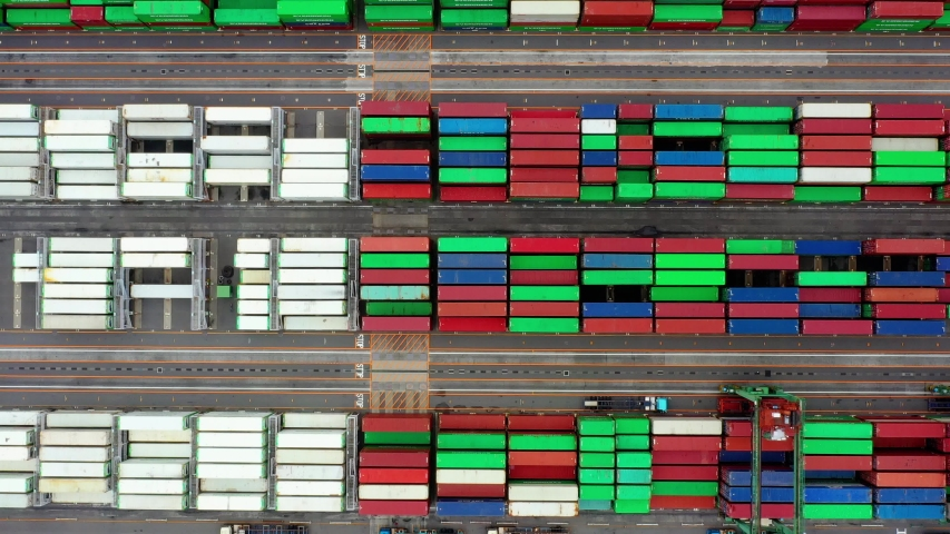 Container ship in import export and business logistic, aerial view | Shutterstock HD Video #1033016981
