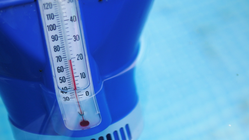 Pool Thermometer Floating. Measuring Water Stock Footage Video (100%  Royalty-free) 1033673471 | Shutterstock