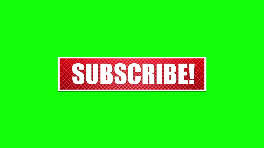 Subscribe button for social network video, chroma key, green screen background. Animated words reveal on the red button: like, comment, share, subscribe, call to action for subscribe to channel. | Shutterstock HD Video #1033785641