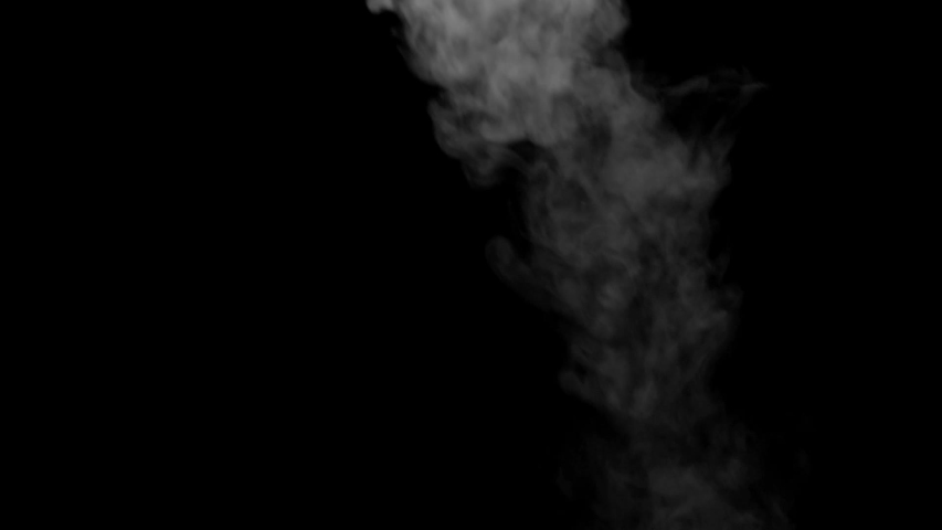 The smoke motion isolated on black background ,slow motion movement #1033837961