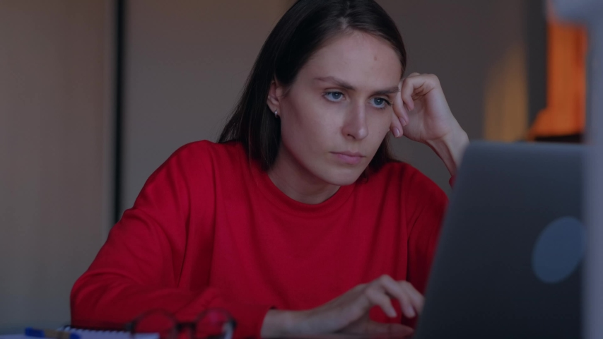 Stressed girl annoyed using stuck laptop, angry female mad about computer problem frustrated with data loss, online mistake, software error or system failure