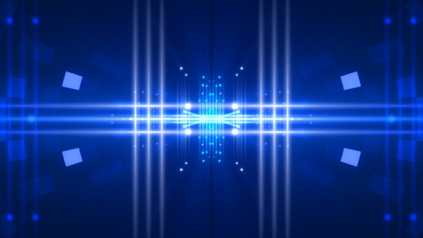Blue abstract background, flashing light and motion shapes, loop | Shutterstock HD Video #1034414111