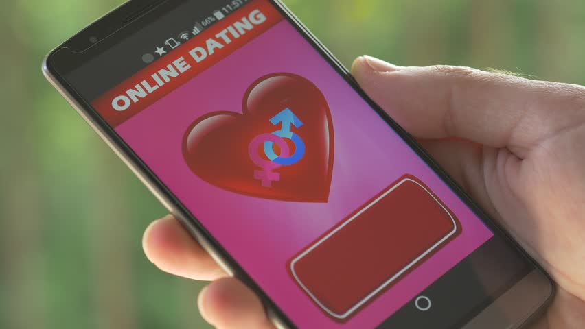 Dating application on a smartphone searching for the perfect match in its data base of members.Online dating has become a very popular way to meet people now and there's no stigma.