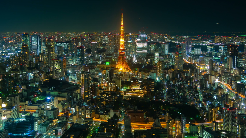 4k Time lapse view of Tokyo city at twilight, Japan | Shutterstock HD Video #1034525531