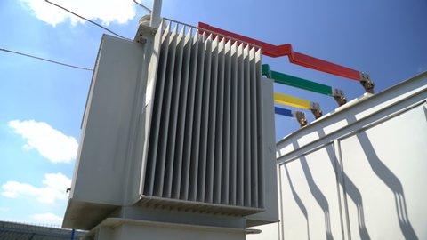 High voltage transformer equipment in a solar power station