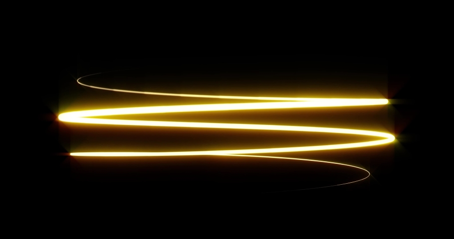Light spiral painting effect. Bright glowing gold light in motion. Golden trail for premium luxury product back light. | Shutterstock HD Video #1034863151