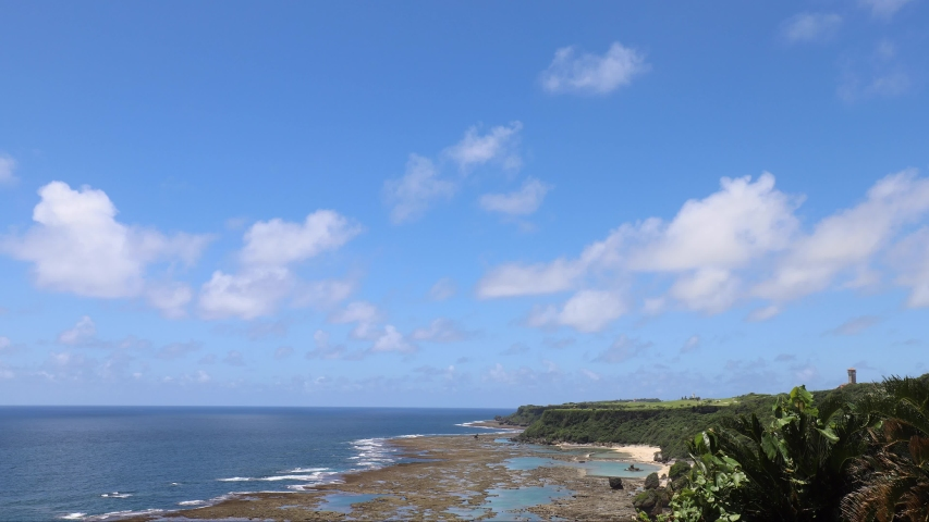 Nanjo City, Okinawa Prefecture Scenery from the hill, flowing clouds Timelapse | Shutterstock HD Video #1035049751