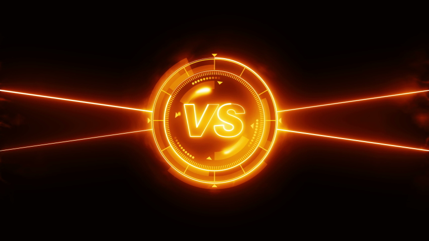 Futuristic sports game loop animation. Versus fight background. Radar neon digital display. VS. Game control interface element. Battle fight sports competition. | Shutterstock HD Video #1035187241