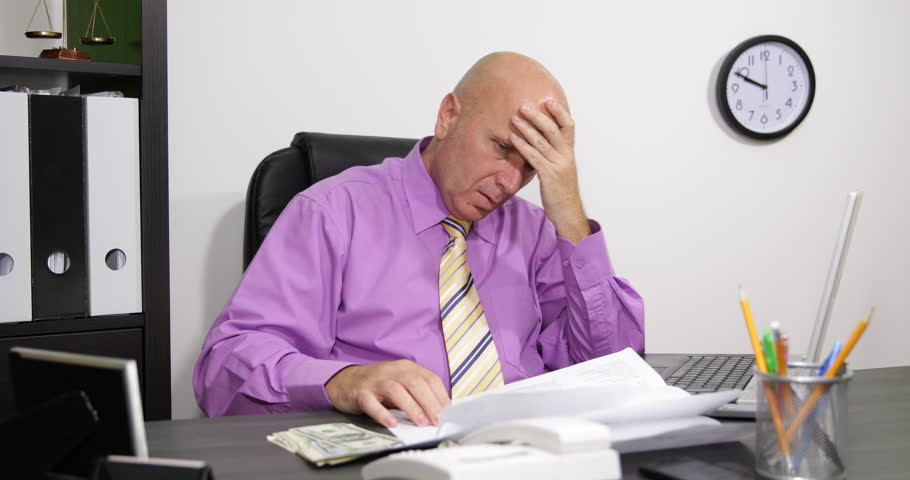 Stock Video Clip Of Desperate Manager Payments Day Check Invoices Paying    Shutterstock