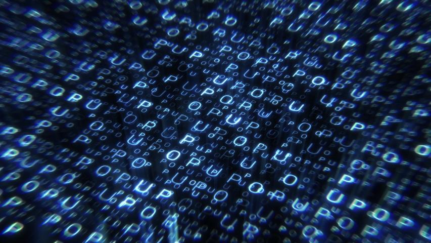 Big data digital code. Futuristic information technology concept. | Shutterstock HD Video #1035341351