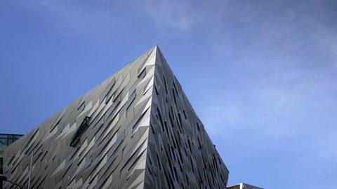 Belfast / Ireland - 02 07 2019: Titanic Museum Belfast