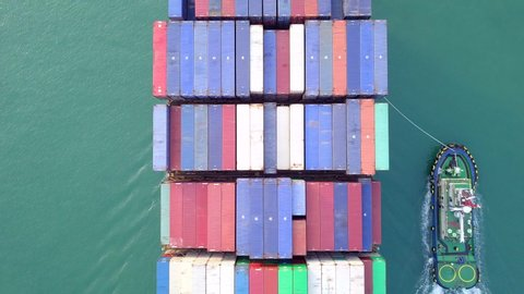 Container ship Cargo ship Large container ship at sea and export products worldwide