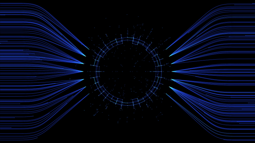 PNG alpha channel.HUD technological futuristic template.On transparent background. | Shutterstock HD Video #1035436751