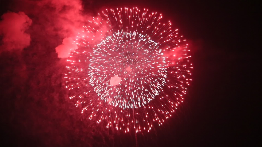 Fireworks display is a typical summer scene in Japan. | Shutterstock HD Video #1035573251