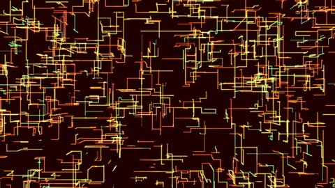 Abstract computer animated color background with many particles creating lines at right angles, high resolution render 4k