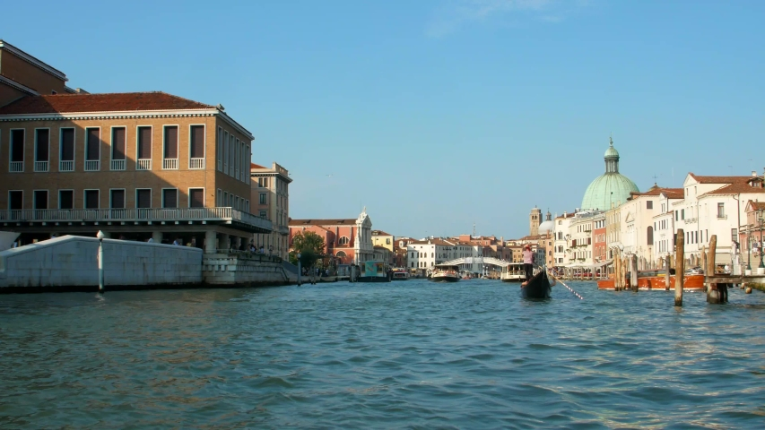 Venice, Italy. Canals with gondolas and boats. 4k video | Shutterstock HD Video #1035911081