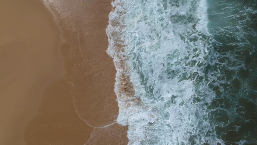 Drone aerial footage of empty beach and waves in Mexico   Shutterstock HD Video #1035940721