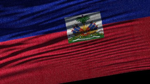 Flag of Haiti. Ideal for sport or any national event. Beautiful textures, 3d flag waving. Closeup 1080p Full HD or 4k video presentation