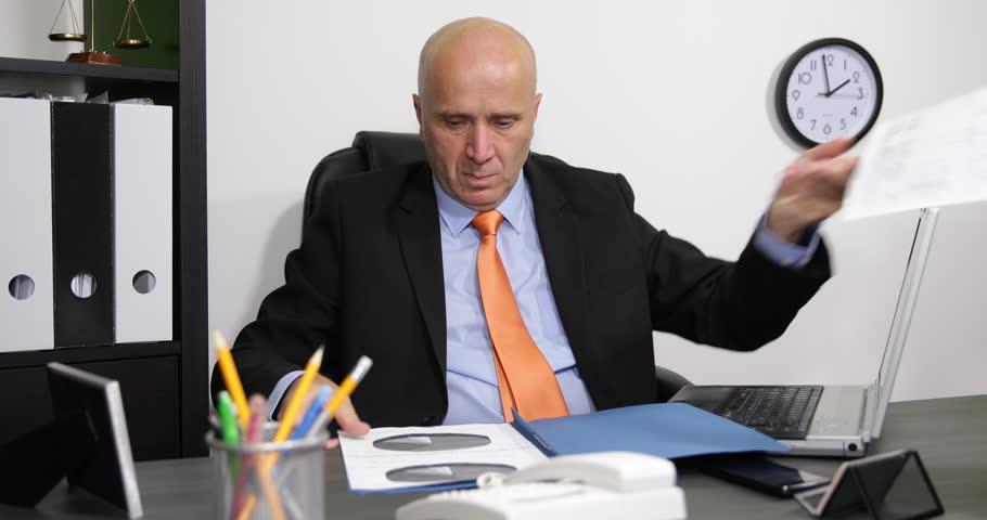 Interior Office Room Manager Agree Partner Files Approved Business ...